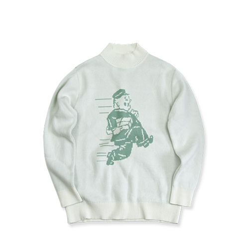 GARBSTORE Postman Cotton Sweater, White