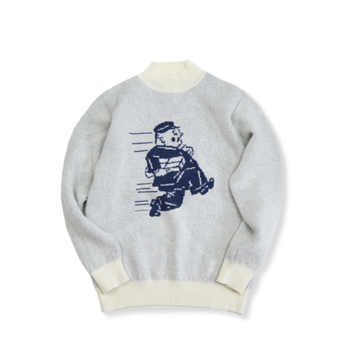 GARBSTORE Postman Wool Sweater, Navy