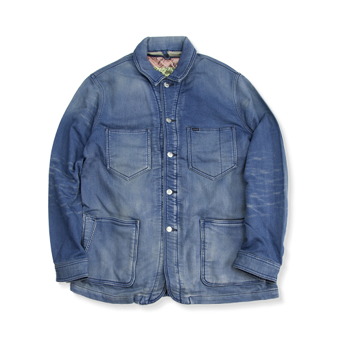 NYUZELESS Kint Denim Cover All jacket, Indigo