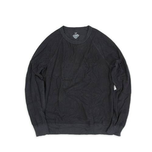 SAVE KHAKIL/S Supima Fleece Crew Sweat Shirt (SK-00055-SPF), Black
