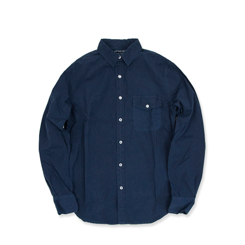 SAVE KHAKIPoplin Work Shirt (SK-00711-US), Classic Navy