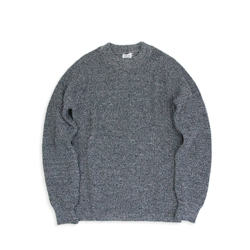 SAVE KHAKIShaker Ragg Sweater (SK-00350), Grey Ragg