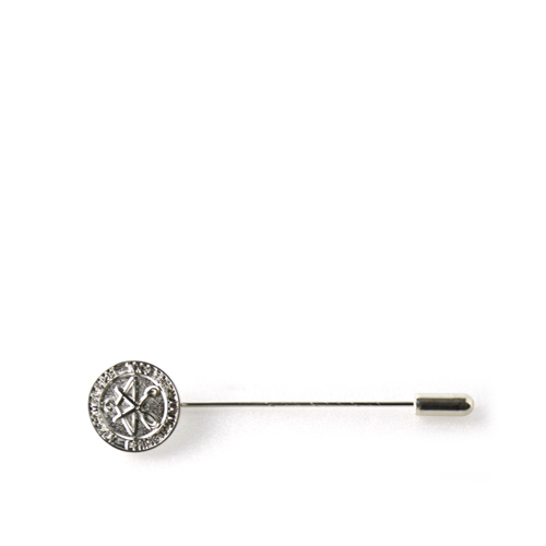 ART COMES FIRST Coin Stick Pin, Sliver