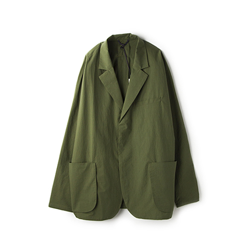 SALVY; High Count Typewriter Dolman Jacket, Olive